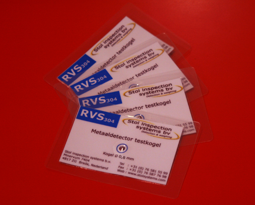 0,8 mm RVS 304 testkaart